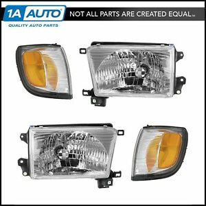 Head Light Lamp Corner Turn Signal Driver Passenger Set For 99 02 4 Runner