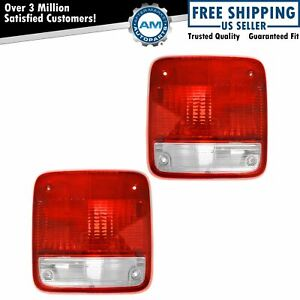 Taillights Lamps Taillamps Pair Set Rear Brake For 85 96 Chevy Gmc Van Full Size