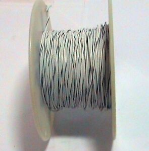 400 Plus Feet Interstate 18 Awg Style 1061 Stranded Wire White With Black Stripe