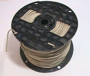 450 Foot Encore 14 Awg Thhn Stranded Copper White Wire Cracked Spool