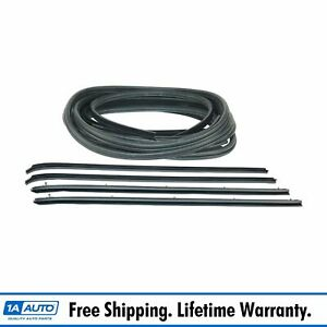 10 Piece Rubber Door Window Weatherstrip Seal Kit For 80 93 Dodge Truck D W 150