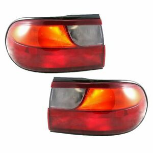 1 4 Mounted Outer Taillights Taillamps Rear Brake Pair Set For 97 05 Malibu