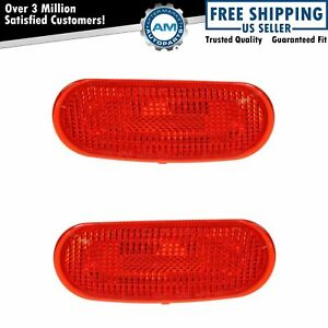 Rear Side Marker Parking Corner Turn Signal Light Lamp Pair Set For 98 05 Beetle