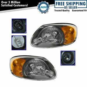 Headlights Headlamps Pair Set Left Lh Right Rh For 03 06 Hyundai Accent