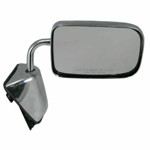 Chrome Manual Side View Mirror Rh Right For Dodge D W 100 350 250 150 88 93