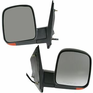 Power Heated Side Mirrors W Signal Left Right Pair Set For 03 07 Express Savana