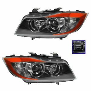 Hella Bi xenon Hid Adaptive Headlights Left right Pair Set For Bmw E90 3 Series