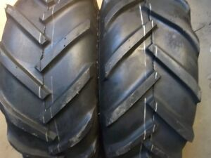 Two 23 10 50x12 John Deere R1 Lug Gravely Tires And Two 16 6 50 8 Lug Tires