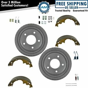 Rear Brake Shoe Drums Hardware Kit Set 9 5 X 2 For Chevy Gmc Buick