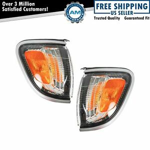 Side Corner Marker Turn Signal Light Pair Set For 01 04 Tacoma Pickup Truck