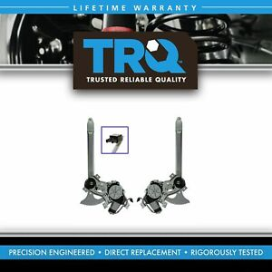Trq Front Power Window Regulator With Motor Pair Set Of 2 For Gm Pickup Suv