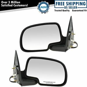 Power Side View Mirrors Left Right Pair Set For 99 02 Silverado Sierra Truck
