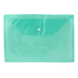 Plastic Water Proof A4 Paper Document File Bag Case Holder Organizer Green Clear