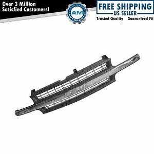 Chrome Gray Front Trim Grille Grill For Chevy Silverado 1500 2500 3500 Pickup