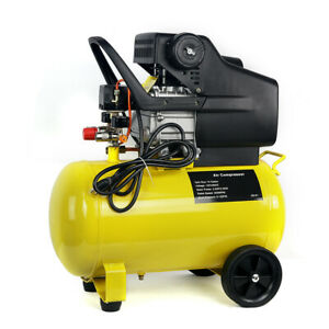 Air Compressor Portable Pneumatic 3 5 Hp Motor 125 Psi Cast Iron 10 Gallon New