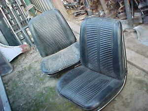 1966 Chevelle Pontiac Gto Malibu Factory Bucket Seats With Metal Trim Cores