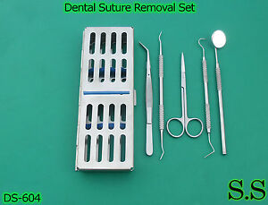 Set Of 6 Pcs Dental Suture Removal Kit Surgical Dental Instruments