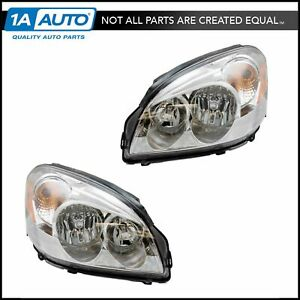 Headlights Headlamps Left Right Pair Set For 06 11 Buick Lucerne