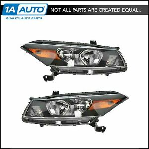 Front Headlights Headlamps Lights Lamps Pair Set For 08 10 Honda Accord Coupe