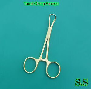 5 Backhaus Towel Clamp 3 5 Full Gold Surgical Instruments