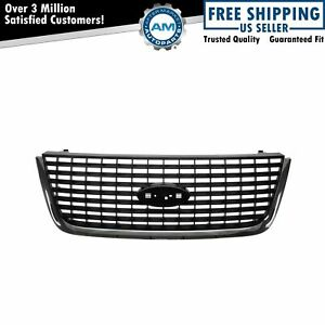 Grille Upper Platinum Gray Chrome Assembly For Ford Expedition 03 06