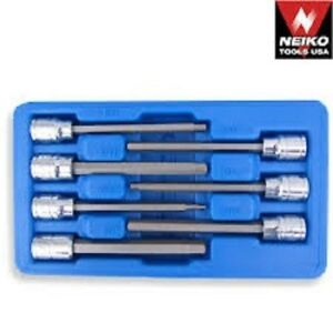 Neiko 7 Pc 3 8 Dr Ex Long Hex Bit Socket Set 10072a