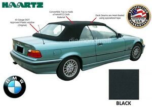 Bmw E36 3 Series Convertible Soft Top 1994 1999 Black Stayfast Plastic Window