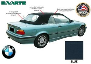Bmw E36 3 series Convertible Soft Top 1994 1999 Blue Stayfast Plastic Window
