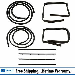 Rubber Door Weatherstrip Seal Kit Set For 83 94 Chevy S10 Blazer Gmc S 15 Jimmy