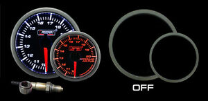 Wideband Air Fuel Ratio Gauge W Bosch O2 Sensor Amber White Afr Kit Prosport