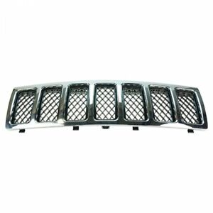 Grille Chrome W Black Mesh For 08 10 Jeep Grand Cherokee