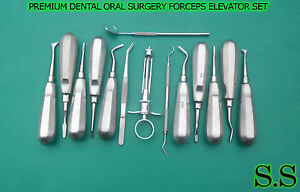 14 Pcs Premium Dental Oral Surgery Kit Surgical Instruments Forceps Elevator