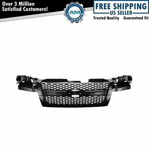 Grille Smooth Black Frame Front Assembly For 04 12 Chevy Colorado