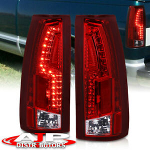 88 98 Chevy C K Truck Direct Replacement Led Brake Stop Tail Lights Lamps Red