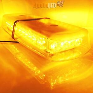High Power Amber Yellow Warning 32 Led Snow Plow Safety Strobe Heavy Light Bar