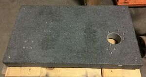 Granite Surface Plate 36 X 21 X 3 With 3 75 Diameter Hole
