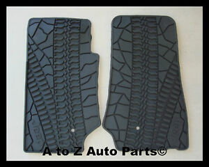 New 2007 2013 Jeep Wrangler Jk 2 Door Slush Style Rubber Floor Mats oem Mopar