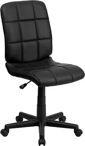 Mid back Black Quilted Vinyl Task Chair