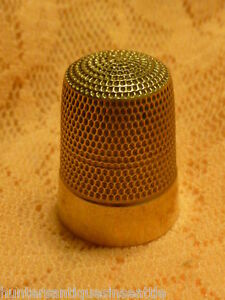 Vintage 10k Yellow Gold Sewing Thimble 4 3 Grams