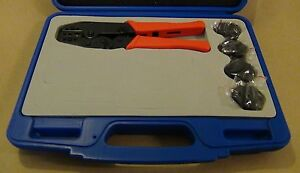 Prep Kit 5 Dies Awg 22 6 Insulated Non insulated Terminal Ratchet Crimp Tool
