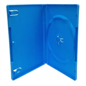 100 Standard Solid Blue Color Single Dvd Cases