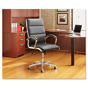 Black Leather Conference Room Table Chair With Padded Arms