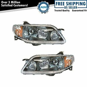 Headlights Headlamps Lamp Pair Set For 01 03 Mazda Protege Sedan