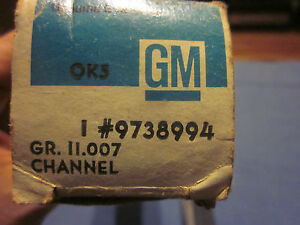 1971 1975 Pontiac Cadillac Convertible 1 4 Glass Sash Channel Trim Set R Nos