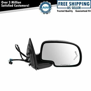 Side View Mirror Power Heated Signal Smooth Cap Passenger Right Rh For Gm Truck