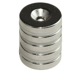 Countersunk Hole Neodymium Magnets N42 5 8 x1 8 For 6 Screw 200 Ct