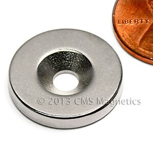 24 Pcs Neodymium Magnets N42 3 4 x1 8 W 1 Countersunk Hole For 8 Screw