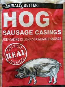 2 pak Natural Hog Pork Sausage Stuffing Stuffer Casings Casing Skins Gut