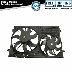 Radiator Dual Cooling Fan Assembly For 05 13 Volkswagen Vw Jetta 2 0l Diesel
