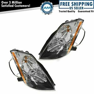 Hid Xenon Headlights Headlamps Left Right Lamp Pair Set For 03 05 Nissan 350z